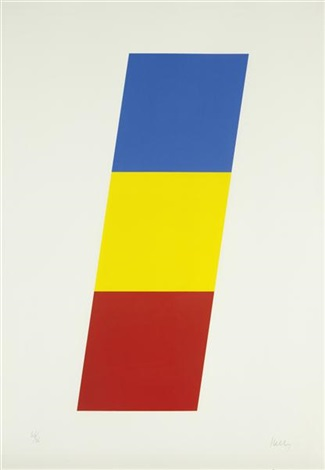 blue/yellow/red (from series of ten lithographs) by ellsworth kelly