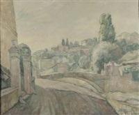 paesaggio con ponte by paolo (stamaty) rodocanachi