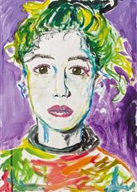 purple lily - selfportrait by elke silvia krystufek