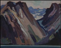 bc mountain study by mildred valley thornton