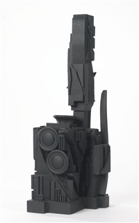 mirror-shadow column iii by louise nevelson