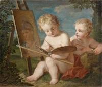 allégorie de la peinture by françois lemoyne