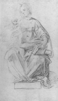the madonna and child by flaminio allegrini
