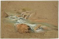 mountain stream by johann fischbach