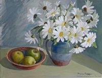 daisies and fruit by peggy spicer