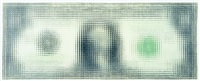 untitled (dollar bill) by tom friedman