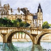 paris, le pont neuf by jacques goupil