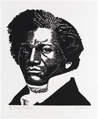 young douglass by elizabeth catlett