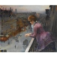 au dessus du boulevard de sebastopol, paris by charles leroy saint-aubert