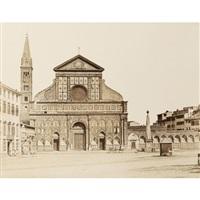firenze, piazza s.m. novella by leopoldo alinari