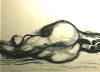 reclining nude by noel jack counihan
