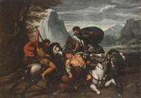 la chasse au lion by italian school-roman (17)