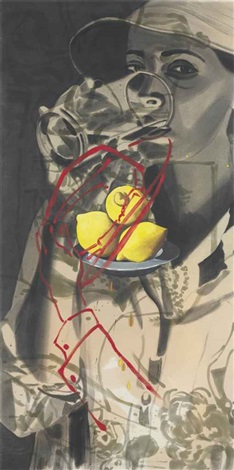 lara with glass by david salle
