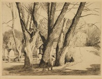 spring valley willows by daniel garber