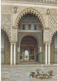 the alcazar palace, seville by josé arias