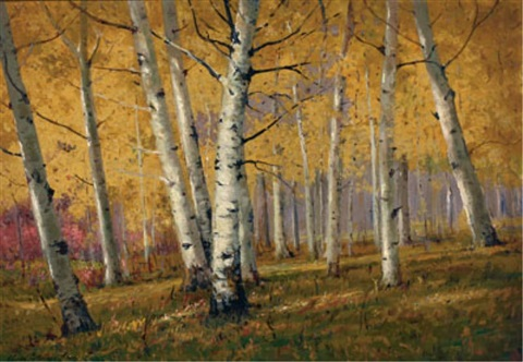 aspen forest by charles partridge adams