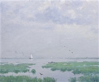 sailing on a summer day by henry hammond ahl