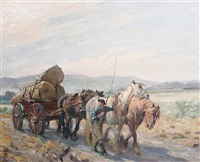 carting timber in sussex by nathaniel hughes john baird