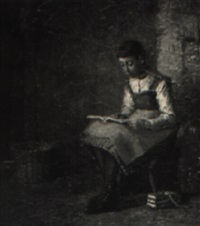 a girl reading by william henry snyder