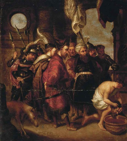 herod watching as the head of john the baptist is washed by sir peter paul rubens