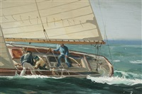 the yacht escapade under sail by kipp soldwedel