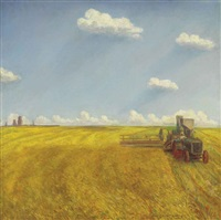 threshing by john steuart curry