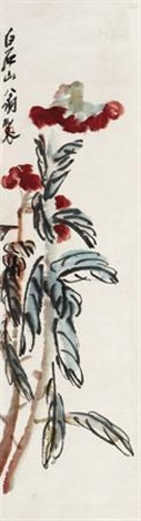 雁来红 flowers by qi baishi