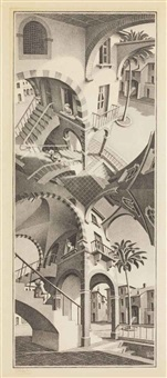 up and down by m. c. escher