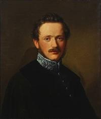 portrait of friedrich freiherr von koenig-warthausen (1800-1889) by jakob theodor leybold