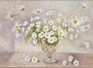 Daisies In A Glass Vase By Geraldine M Obrien On Artnet