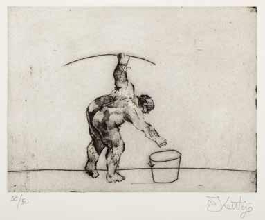 untitled artist bending by william kentridge
