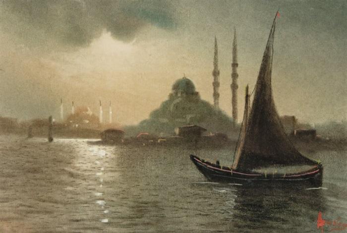 bateau à voile devant sainte sophie by onnik der azarian