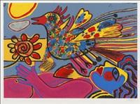 la fleur et l'oiseau by corneille