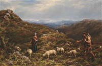 a chance meeting in the highlands by william linnell