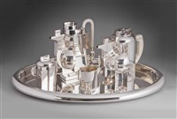 piazza tea and coffee service (set of 5) by richard meier