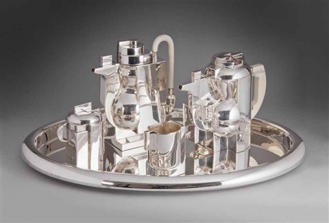 piazza tea and coffee service set of 5 by richard meier