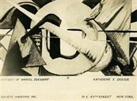 portrait de marcel duchamp-carte postale by katherine sophie dreier