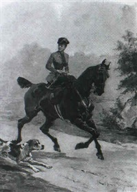 the elegent equestrienne by ernest alexandre bodoy