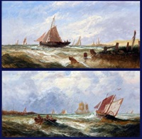 seascape (+ seascape; pair) by w. rogers