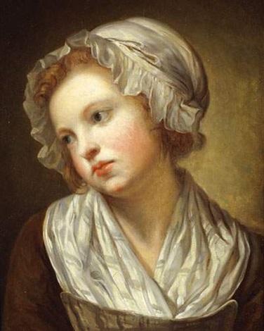 jeune fille au bonnet blanc by jean baptiste greuze on artnet