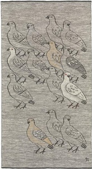kyyhkysiä (doves) tapestry by dora jung