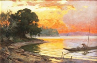 manila bay sunset by fernando cueto amorsolo
