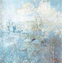 winter view at prague by josef svoboda