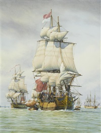 squadron sailing from spithead by mark richard myers