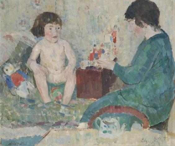 enfant jouant by edgard tytgat
