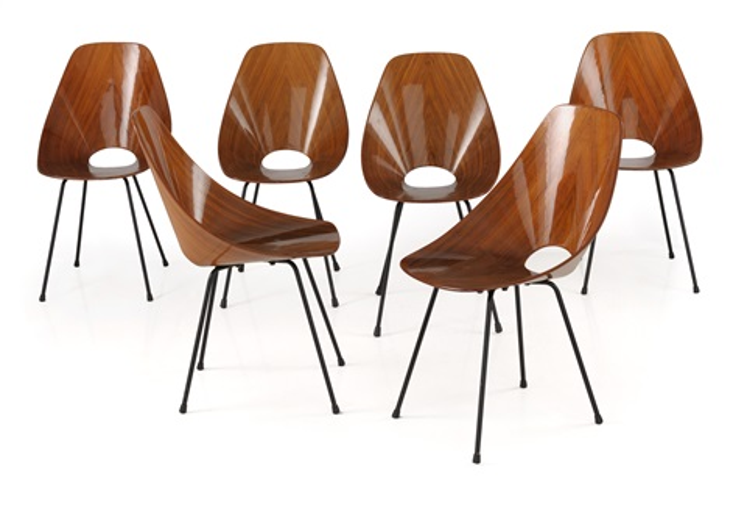 Sei sedie Medea by Vittorio Nobili on artnet