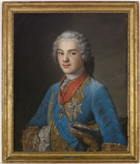louis de france (1629-1765), dauphin de france by maurice quentin de la tour