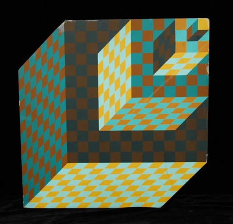 A two sided op art by Victor Vasarely on artnet