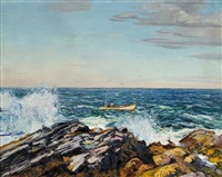 the lobsterman by edward willis redfield