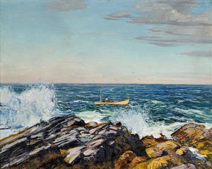 the lobsterman by edward willis redfield